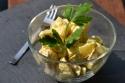 Kartoffelsalat mit veganer Mayo.